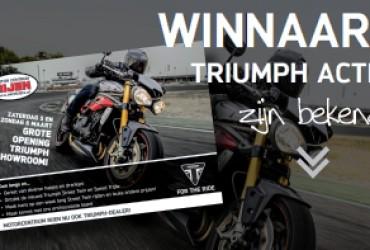 Winnaars Triumph actie van 5 en 6 maart!