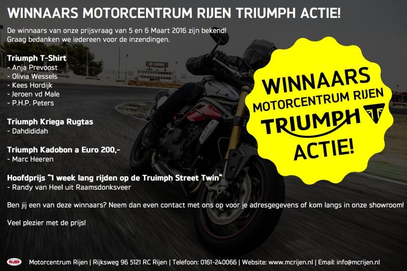 Winnaars Triumph actie Mc Rijen 2016