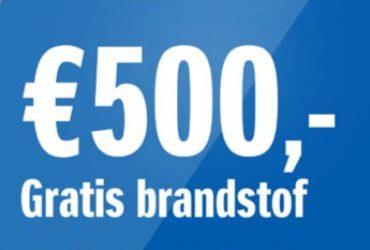 500 euro gratis brandstof bij een Suzuki!