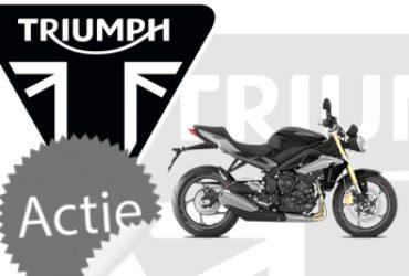 €750,- aan gratis accessoires + €500,- inruilpremie Triumph Street Triple/R