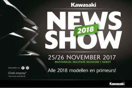 Kawasaki presenteert het Kawasaki 2018 nieuws op eigen show!