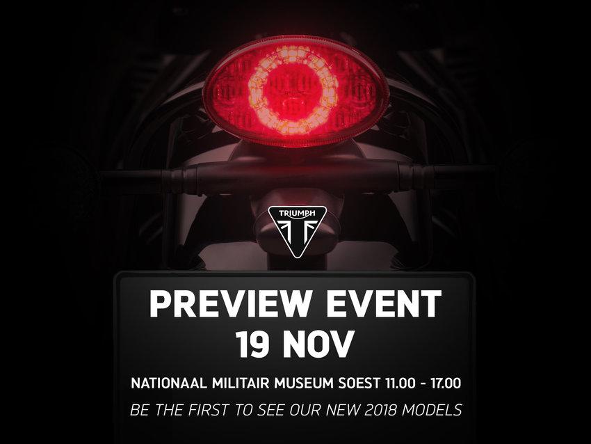 Triumph presenteert 2018 modellen in Soest
