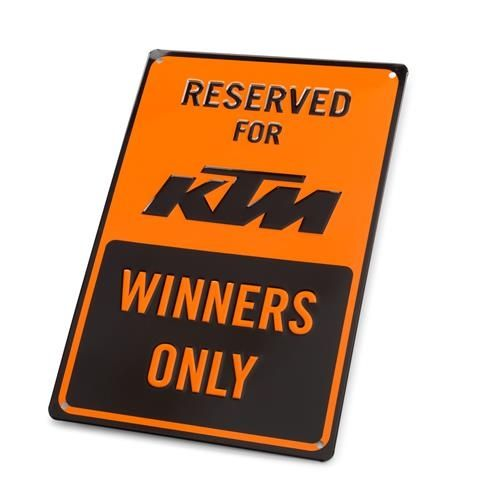 KTM Parking Plate Winners Only